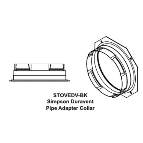 Simpson Duravent Pipe Adapter Collar