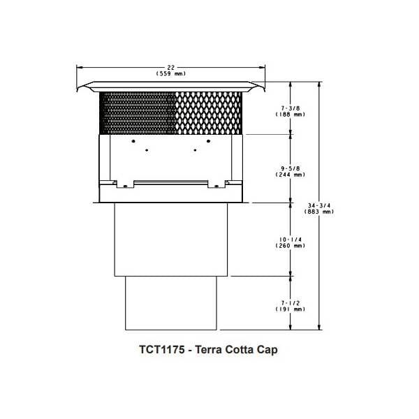 TCT1175 -Terra Cotta Cap