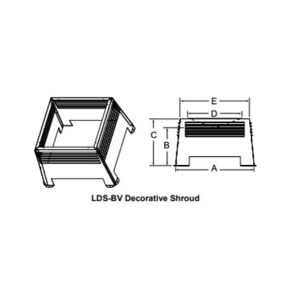 decorative-shroud LDS-BV