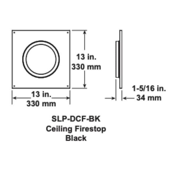 slp-dcf-bk Ceiling Firestop Black