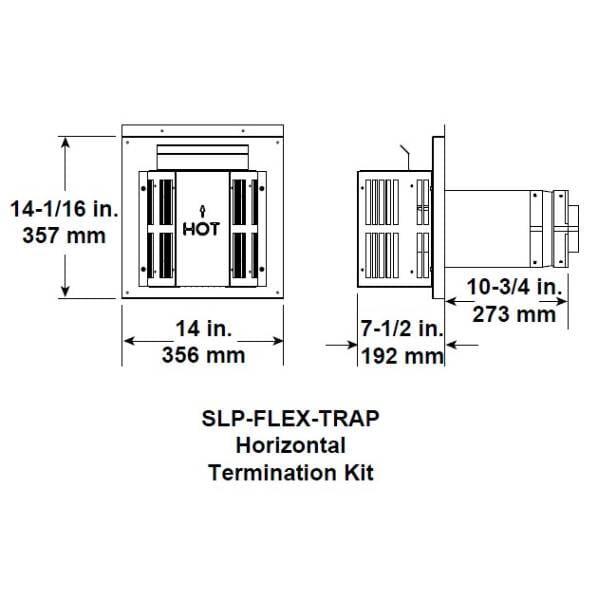 slp-flex-trap Horizontal termination kit