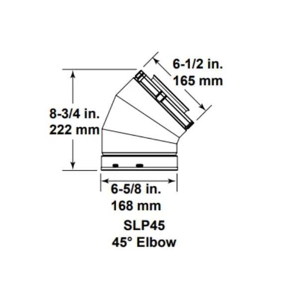 slp45 - 45 elbow
