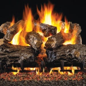 fireplace logs burnt rustic oak