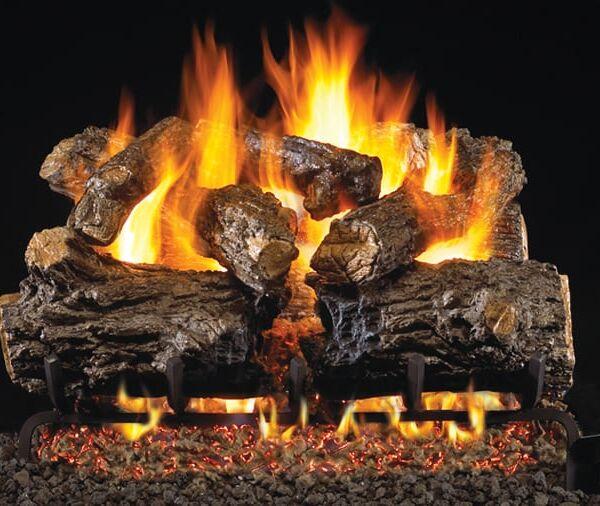 fireplace logs burnt rustic oak