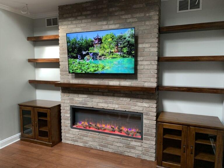 """Simplifire Scion 55"""" Contemporary Electric Fireplace"""