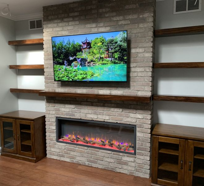 "Simplifire Scion 55"" Contemporary Electric Fireplace"