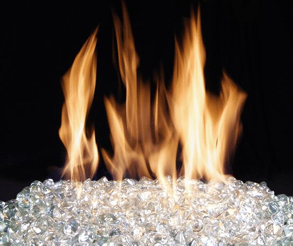 Fireplace diamond nuggets