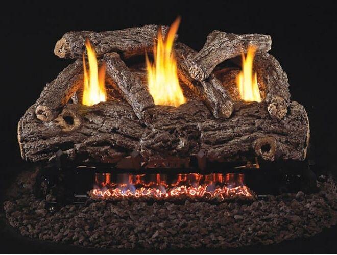 Real Fyre Golden Oak Designer Logs with G9