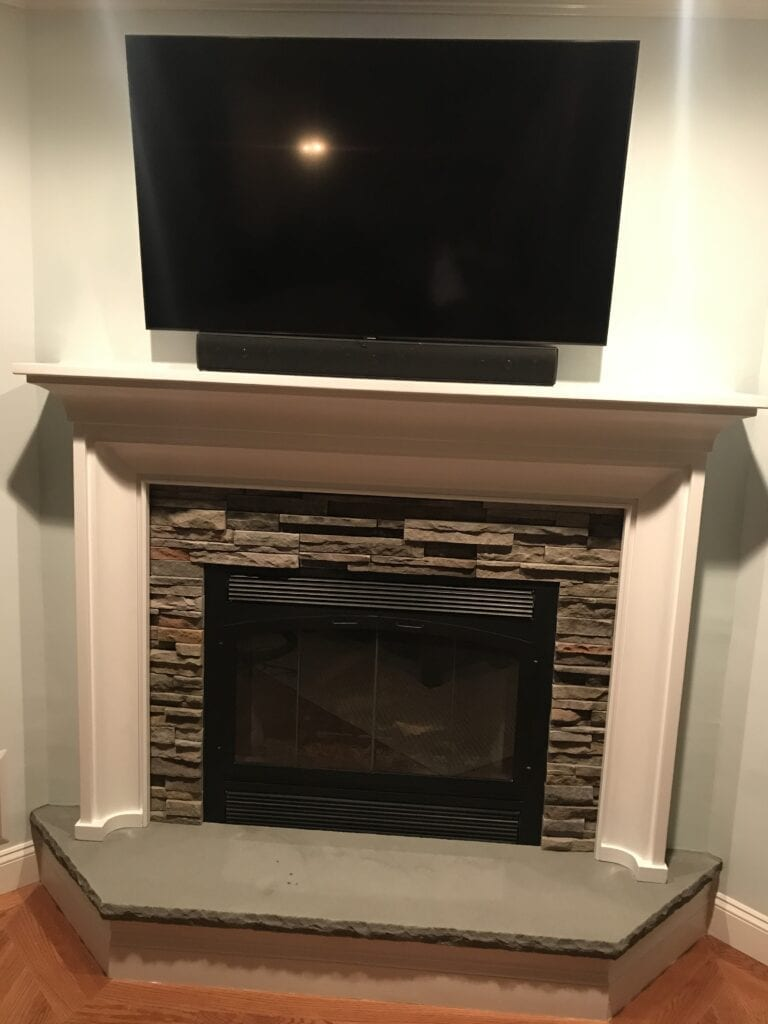 fireplace is showcasing Pheasant Pro-fit