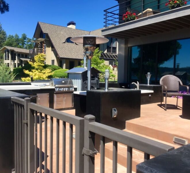 Outdoor Kitchen and Patio with Gas Grill