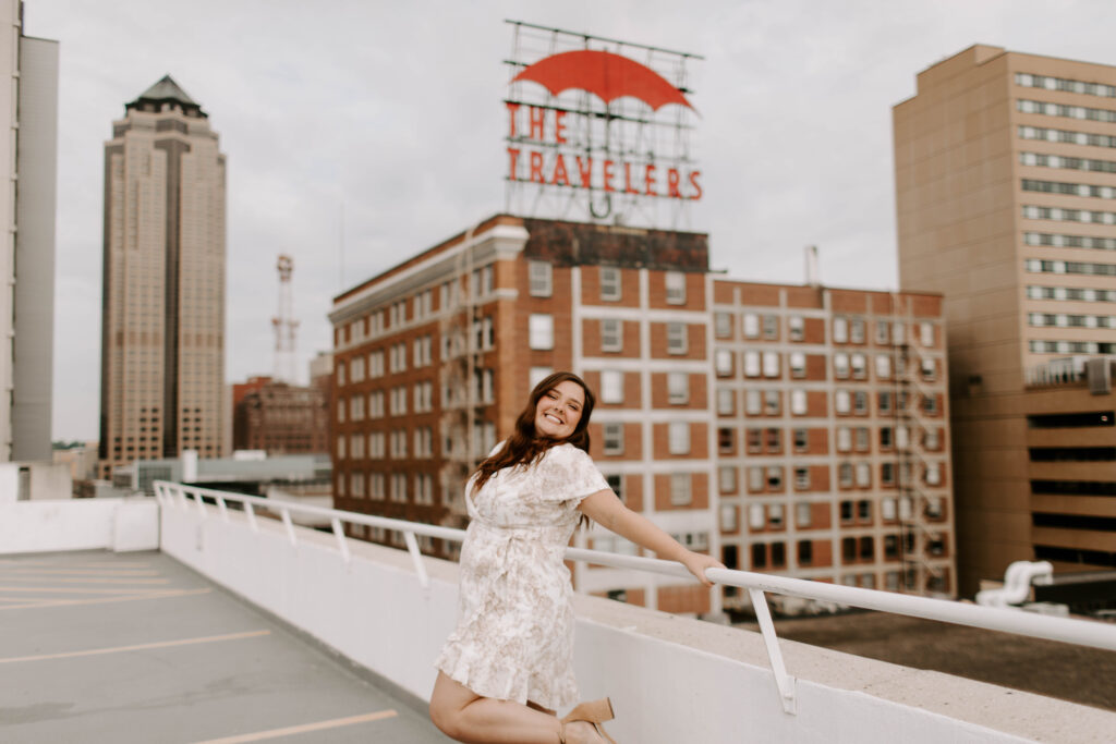 senior on a rooftop