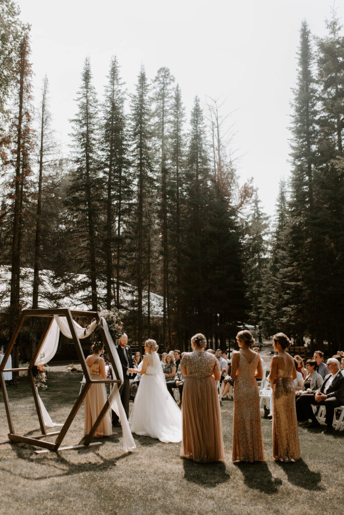 Montana wedding day in the trees, Whitefish MT