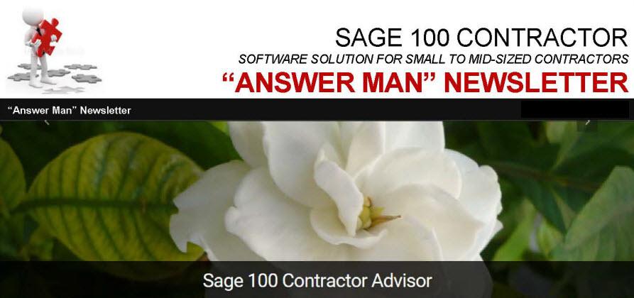 "New ""Answer Man"" Newsletter"