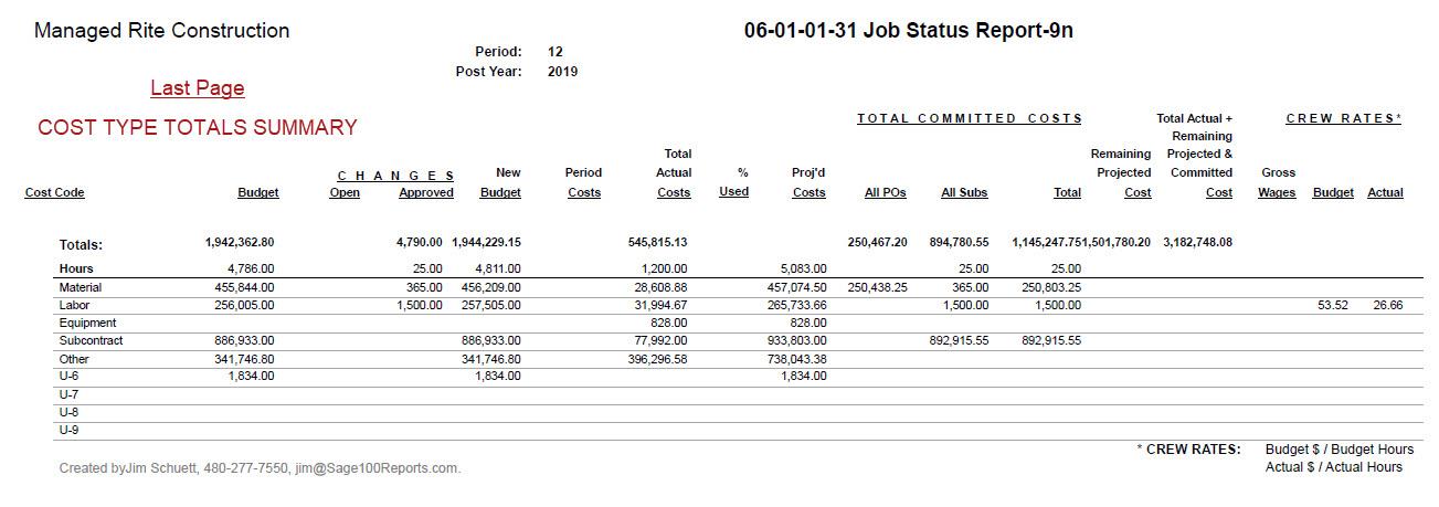 06-01-01-99 Job Status Report-9n