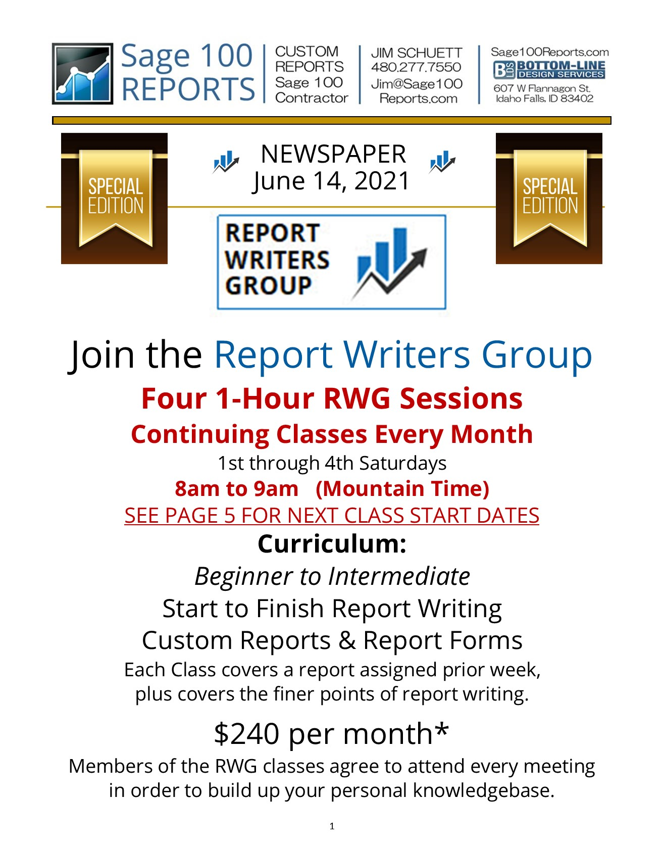 Report Writers Group Program