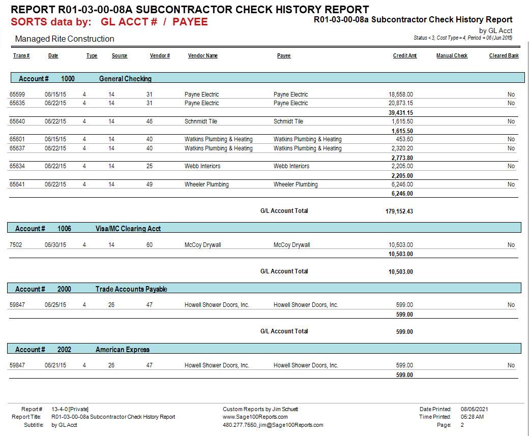 01-03-00-08 Subcontractor Check History Report