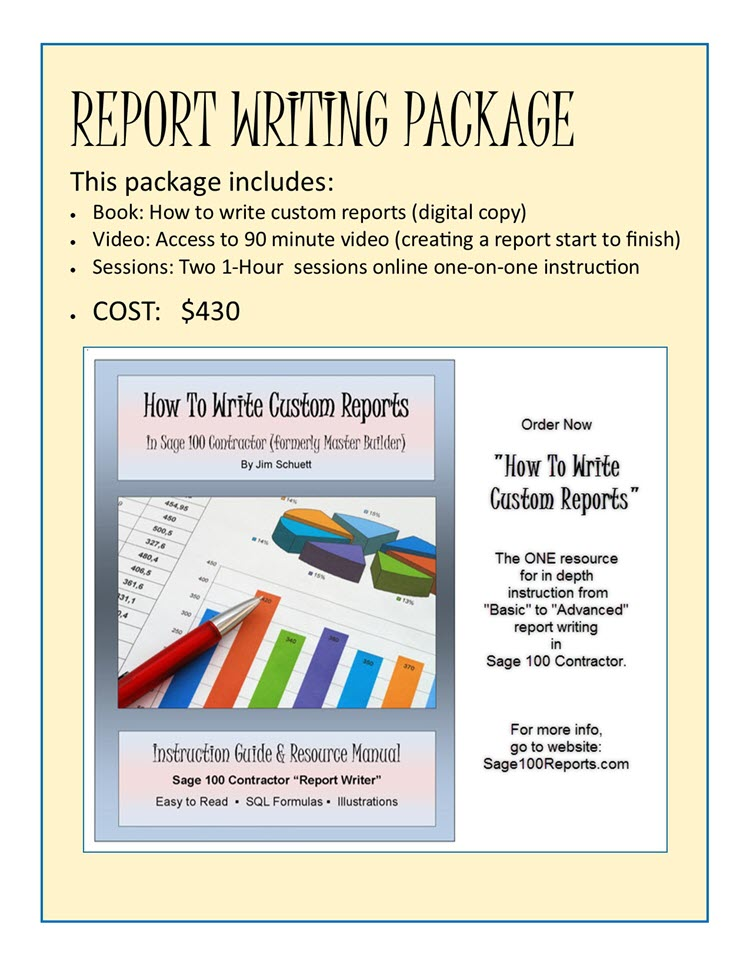 Report Writing Package