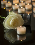 candle with funeral background