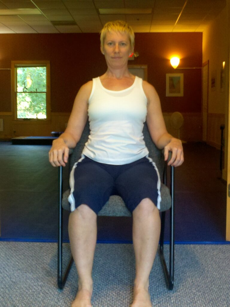 Stop slouching with this exercise.