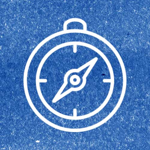Compass Icon with blue background