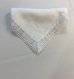 White Lace Edge Napkin
