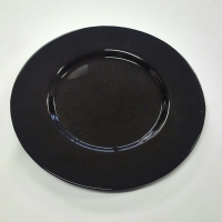 Black Glass Charger