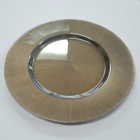 Metallic Bronze Glass Charger