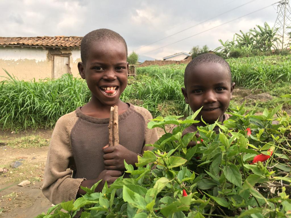 A Boys smiling