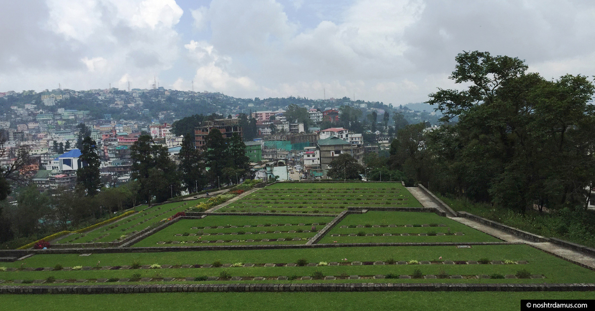 Kohima War Cemetary - 1400 souls from World War II are remembered here