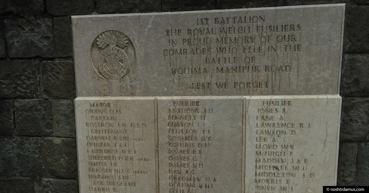 Kohima War Cemetary 1st Batalion The Royal Welch Fusiliers
