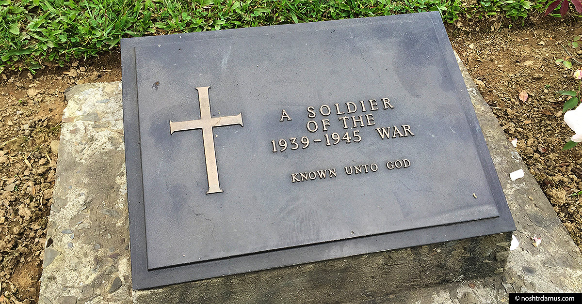 Kohima War Cemetary - Tomb of the Unknown Soldier