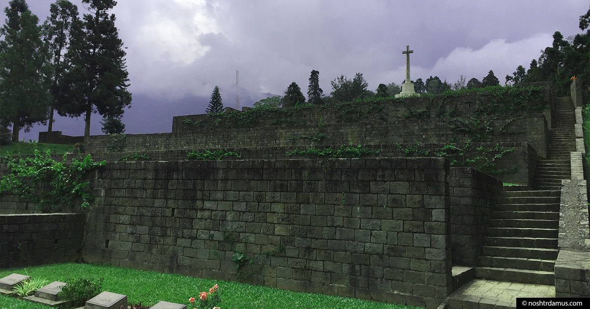 Kohima War Cemetary in memory of Allied forces from World War II