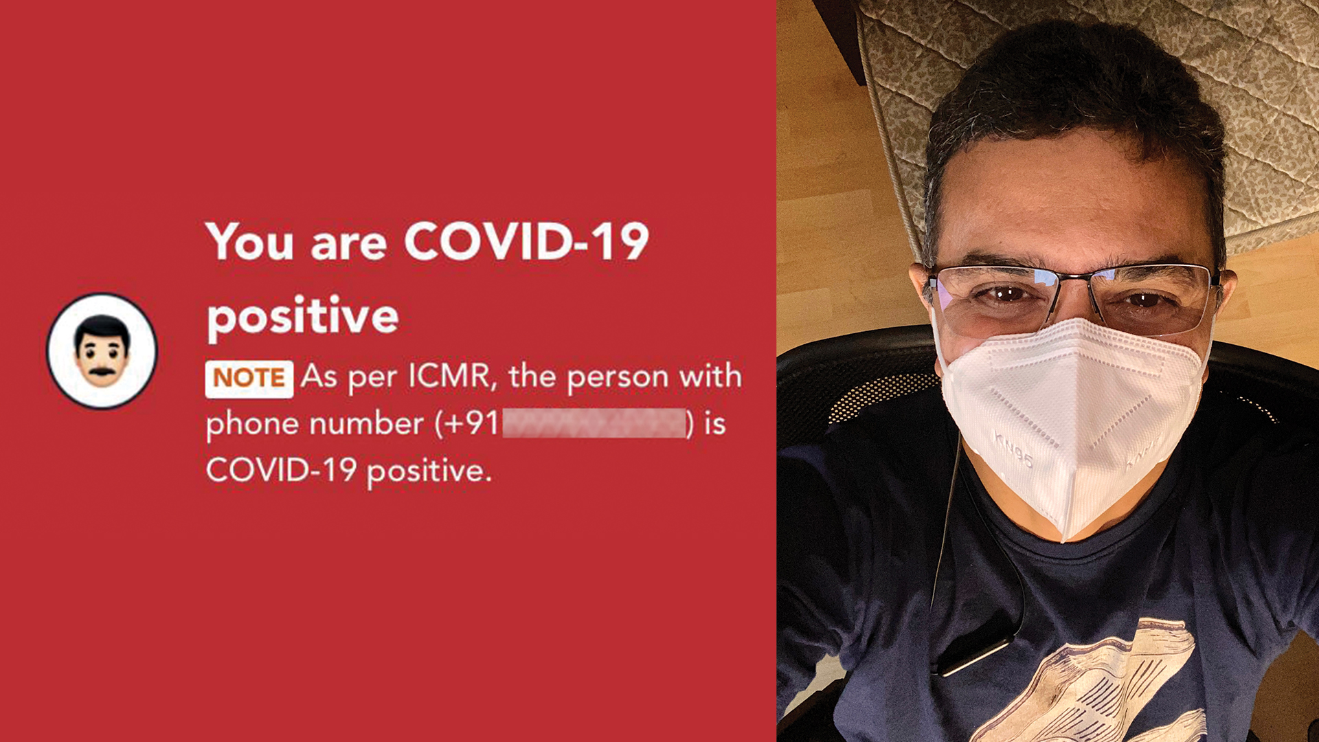 Being Covid-19 Positive