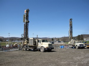 Both Drilling Rigs at work