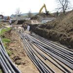 Geothermal pipe making our loops