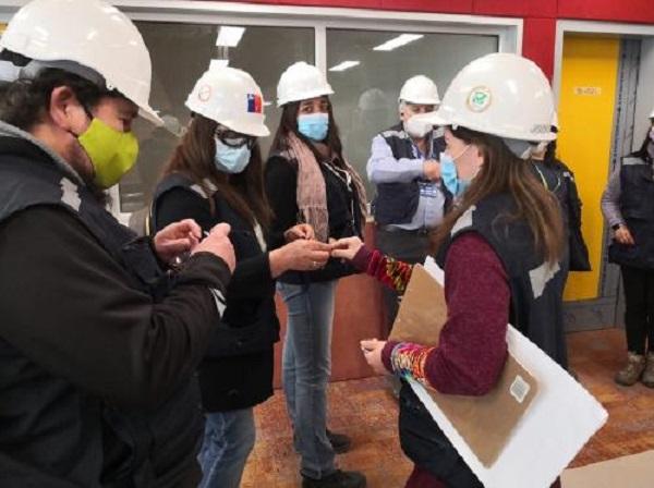 Dirigentes gremiales del Hospital visitan obras del nuevo establecimiento