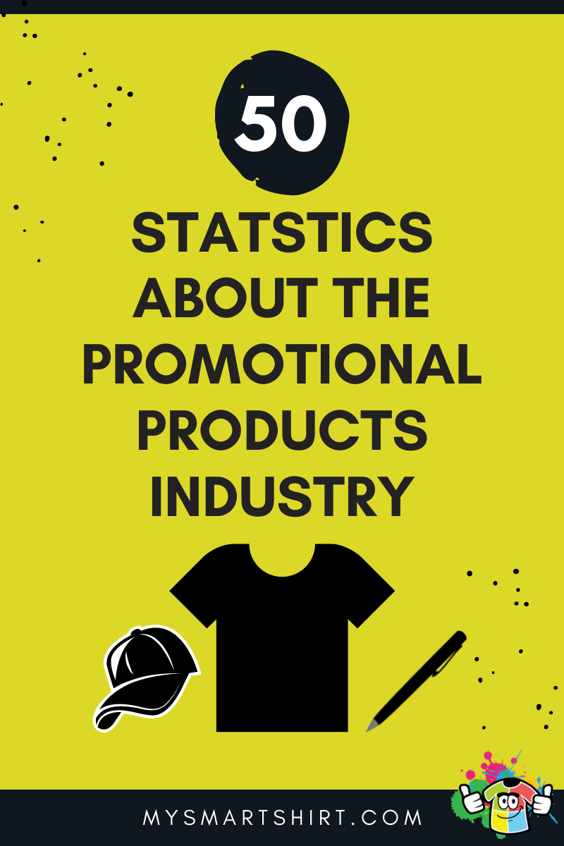 """text reads """"50 statistics about the promotional products industry"""""""