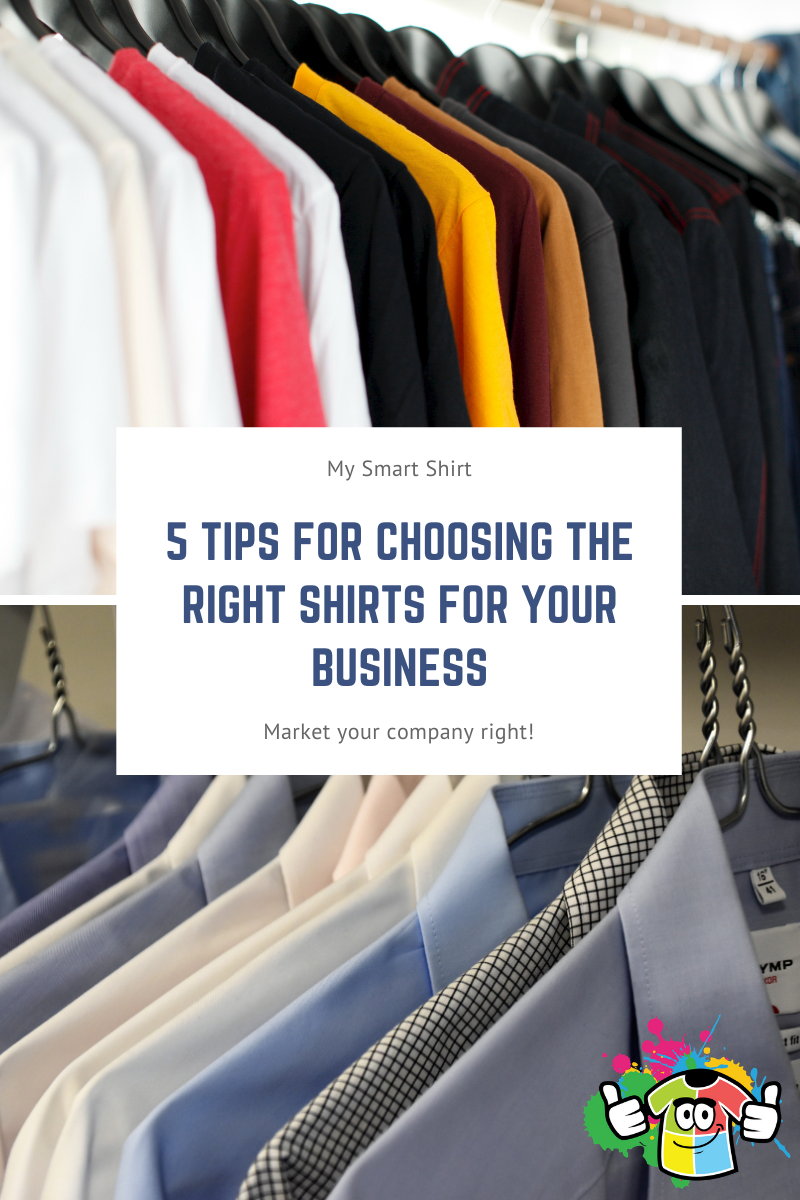 5 Tips for Choosing the right shirts for your business