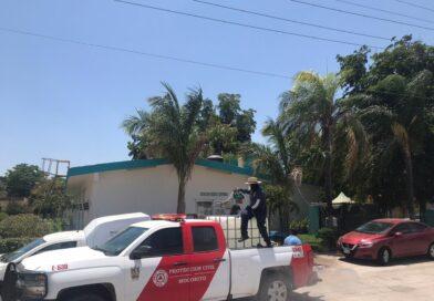 Sanitizan el centro de Pericos, Mocorito