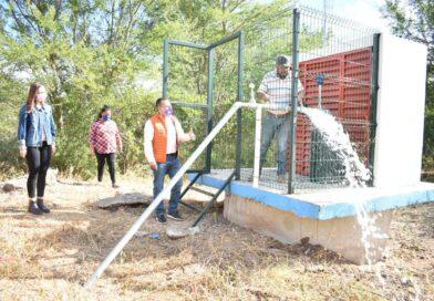 Se cumple el sueño del agua potable en Mezquite Gordo, Mocorito