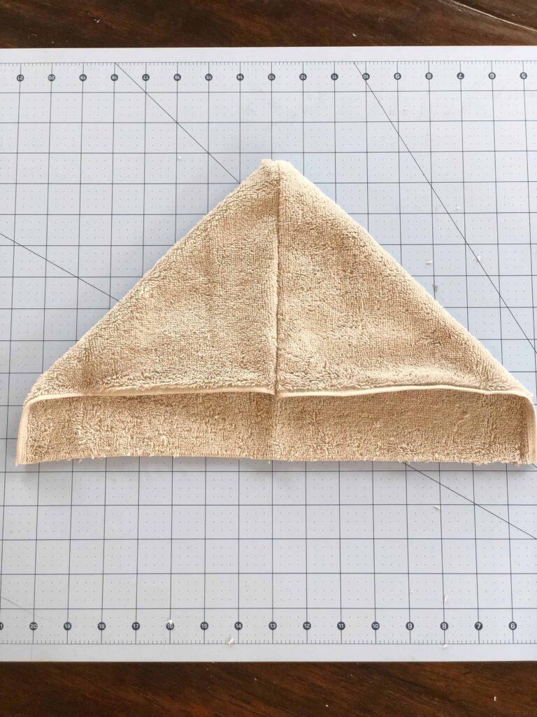 Hood of towel for hooded towel diy