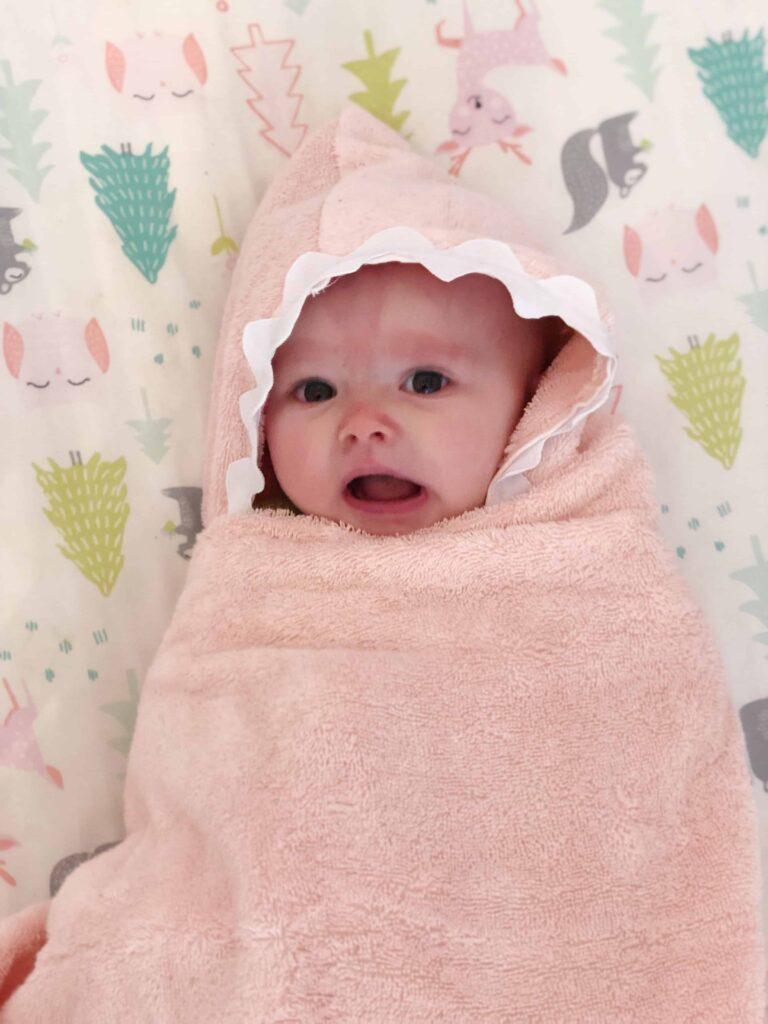 DIY baby hooded towel gift