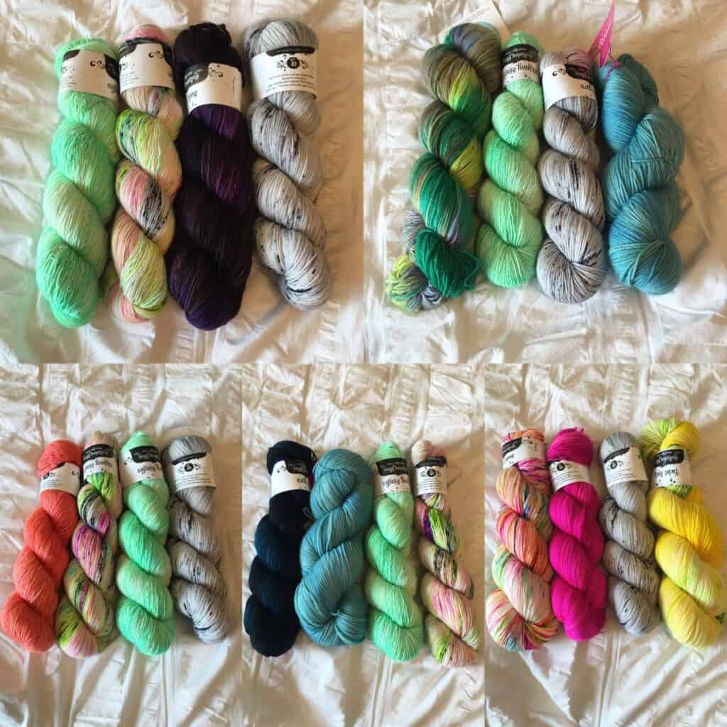 Colorful Fingering Weight Yarn