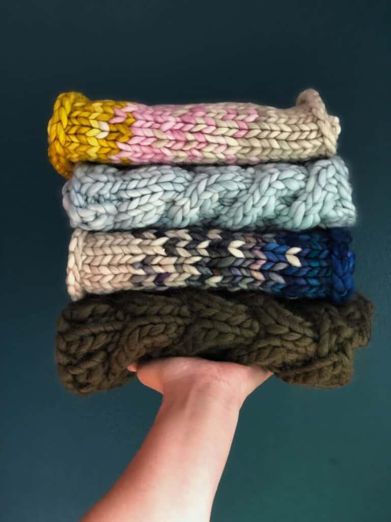 Chunky Knit Cowl Scarfs