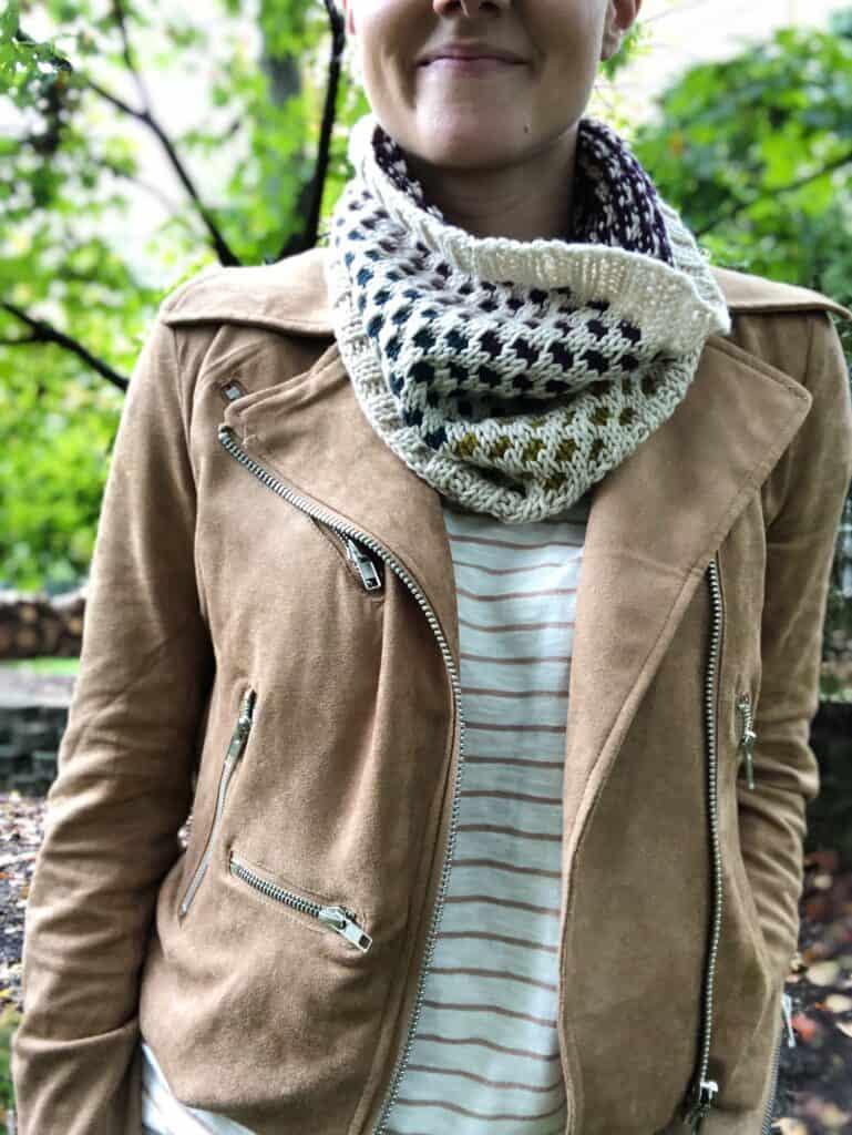 Free Knitting Pattern - Mosaic Knit Cowl