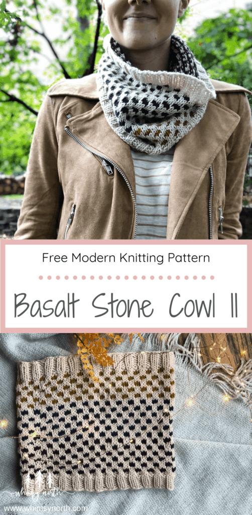 Pin it on Pinterest - Basalt Stone Cowl 2 - Free Knitting Pattern