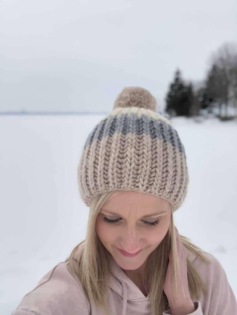 Beginner Brioche Free Hat Knitting Pattern