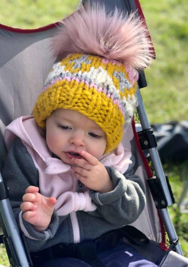 Glimmer Beanie –  Baby Hat Knitting Pattern