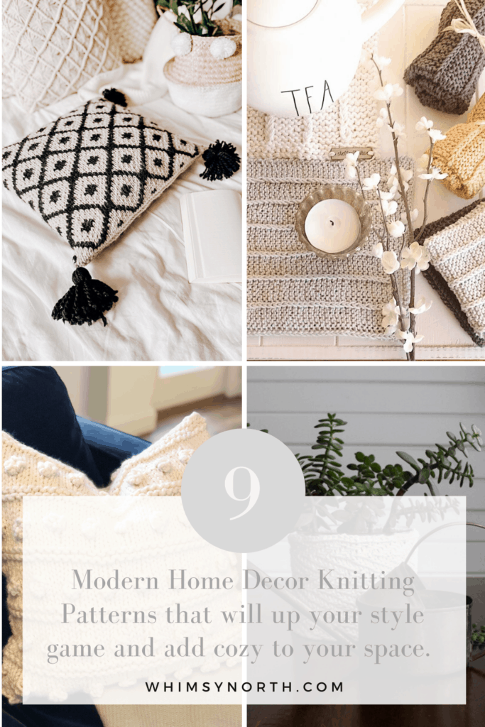 Modern home decor knitting patterns