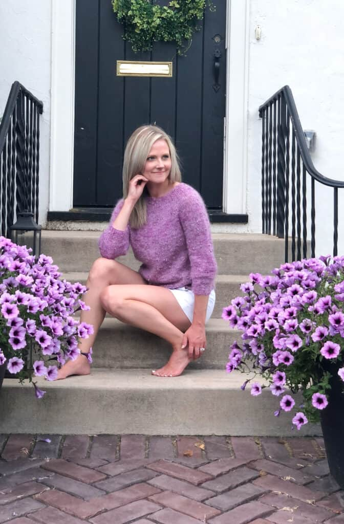 classic and easy knit sweater pattern